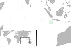 Localisation de l'île Christmas  (en vert) dans la région