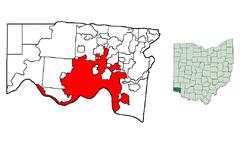 Localización en el estado de Ohio