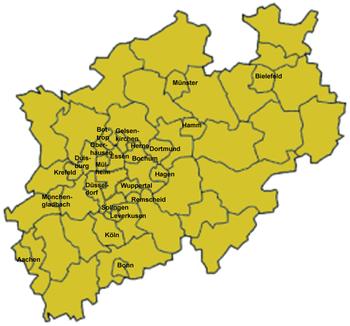 Ciudades de Renania del Norte-Westfalia