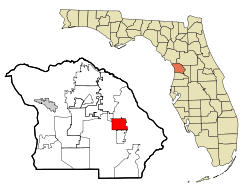 Citrus County Florida Incorporated and Unincorporated areas Inverness Highlighted.svg