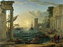 Puerto con el embarque de la Reina de Saba (1648), National Gallery de Londres.