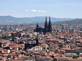 La ville vue depuis le parc de Montjuzet.