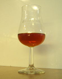 Cognac in a tulip glass