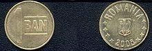 Coins of Romania 1 Ban 2005.jpg