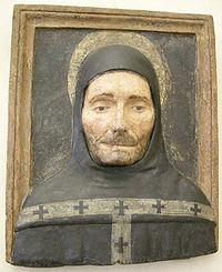 Collezione loeser, busto di sant'antonino, stucco dipinto, xv sec..JPG