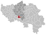 Situation de la commune dans les arrondissement et province de Liège