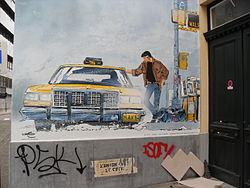 Comic wall XIII, William Vance and Jean Van Hamme, Brussels.jpg