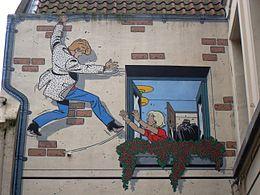 Comic wand Ric Hochet, Tibet, Bruxelles.jpg