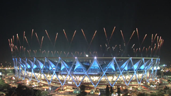 Commonwealth games Delhi 2010 opening ceremony fireworks