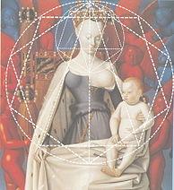 Composición geométrica y efecto de perspectiva del Díptico