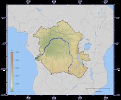 Curso y cuenca del río Congo
