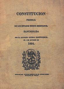 Original front of the 1824 Constitution