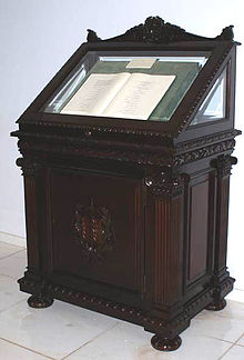 The original copy of the Constitution