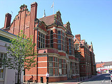 Large ornate red-bricked building