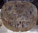 An engraved shell gorget from the Spiro Site