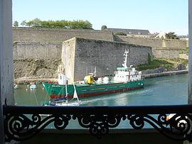 Le Taillefer 3, cargo côtier dans le port de Belle-Île-en-Mer