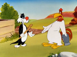 Crowing pains-PD Looney Tunes- sylvester + foghorn.png