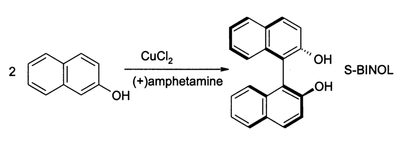 Coupling of beta-naphthol using CuCl2