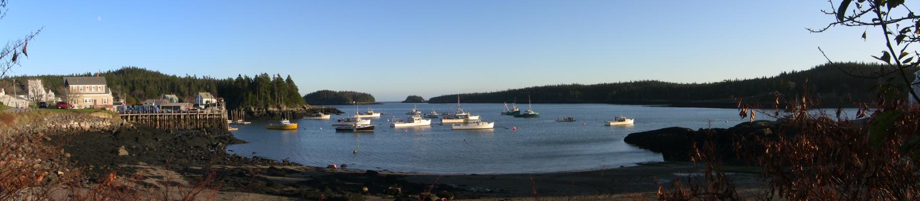 Panorama of Cutler Harbor in November