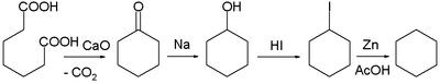 1894 cyclohexane synthesis Baeyer