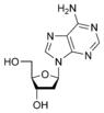 Chemical structure of deoxyadenosine