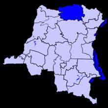 Localisation du district du Bas-Uele