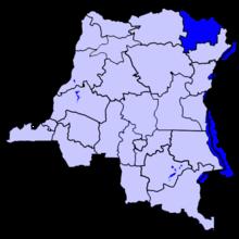 Localisation du district du Haut-Uele