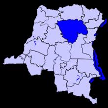 Localisation du district de la Tshopo