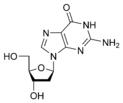 Chemical structure of deoxyguanosine