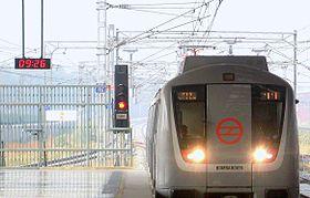 Front view of Delhi Metro Train