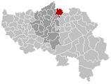 Situation de la commune dans la province de Liège