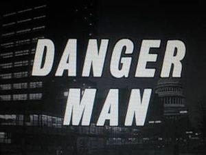 Title Danger Man superimposed over a night street scene in Washington.