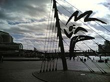 Darling Harbour, Sydney - Olympic symbol.jpg