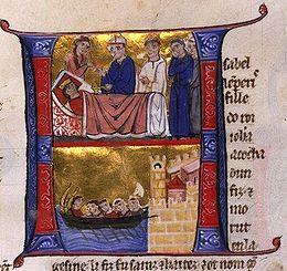 Dood van Yolande v Jeruzalem, besch & illust Willem van Tyre.