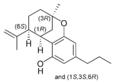 Chemical structure of Δ7-isotetrahydrocannabivarin.