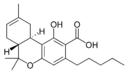Chemical structure of Δ8-tetrahydrocannabinolic acid A.
