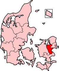 Roskilde County in Denmark