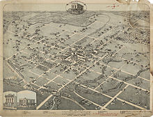 Map of the city of Denton in 1883