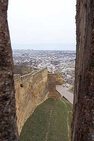 Wall of the Derbent citadel— the only Sassanid fortification in existence.