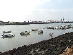 Le Guadalete dans El Puerto de Santa María (Baie de Cadix).