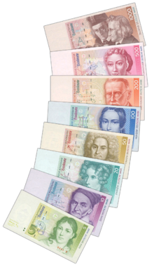 5 DM to 1000 DM Banknotes