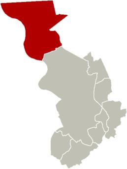 Localisation de Berendrecht-Zandvliet-Lillo au sein d'Anvers
