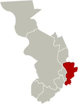 Localisation de Deurne dans la ville d'Anvers