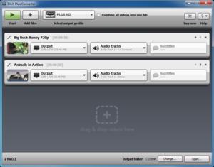 DivX Plus Converter interface