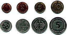 1 pf to 5 DM Coins