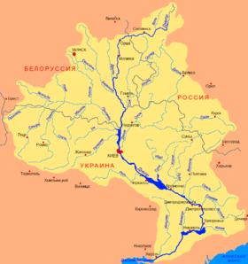 Cuenca del Dnieper (rótulos en ruso)