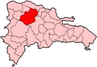 Ubicación de Santiago en la República Dominicana