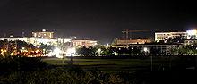 Campus of Dongguk University in Gyeongju at night