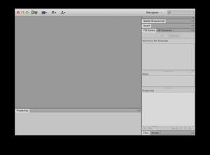 Adobe Dreamweaver CS6 Screenshot