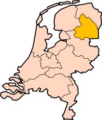Map: Provincie Drenthe in Nederland
